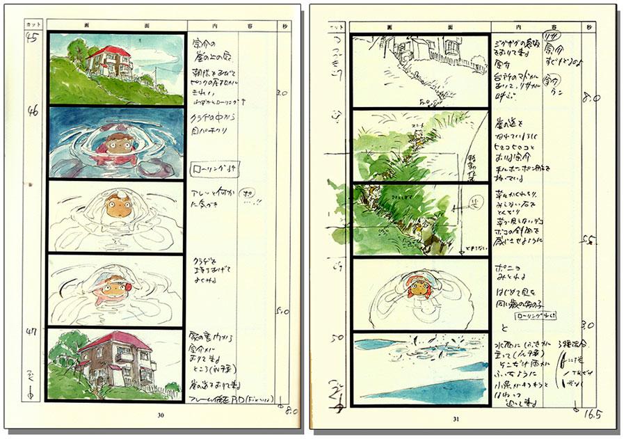 Ponyo Hayao Miyazaki storyboard