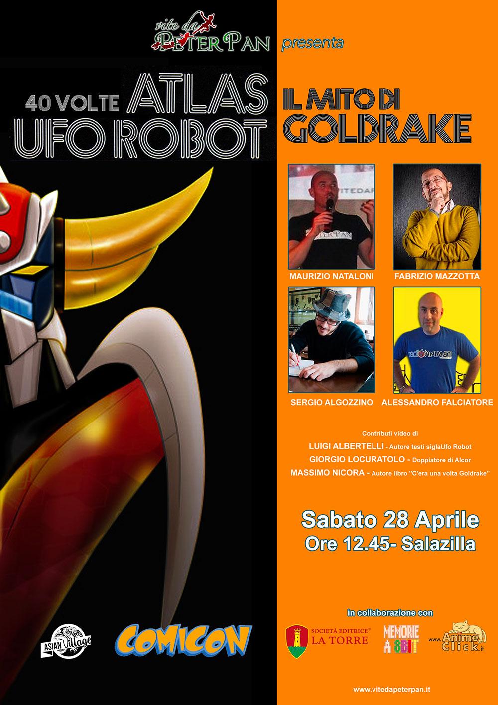 Atlas Ufo Robot Goldrake al Napoli Comicon