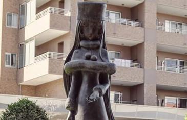 Statue di Leiji Matsumoto a Tsuruga in Giappone
